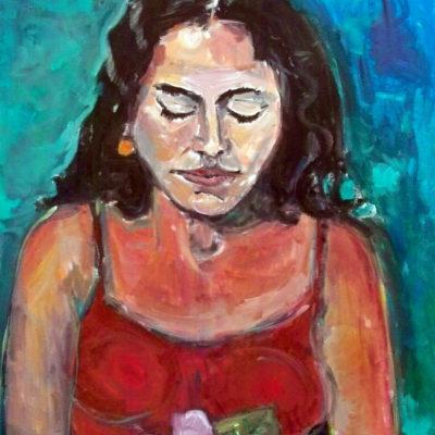 being, hawaiian woman, 0.6 x 0.8 m