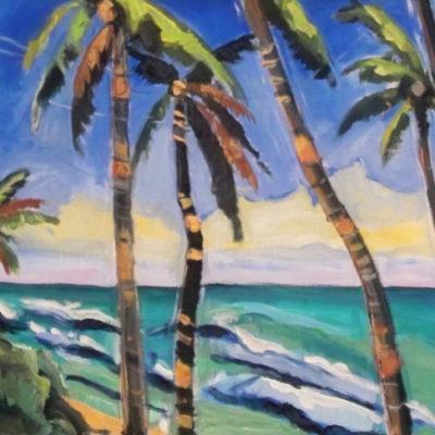 Coco palms Hawaii, 1 x 2 m