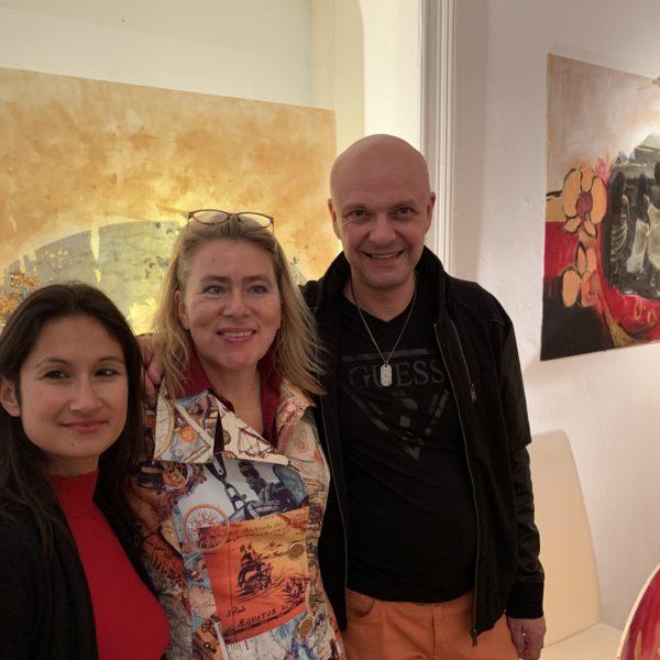 Opening Art Gallery Susanne Rikus with Dr. Joachim Köhrich & Janina Atmadi